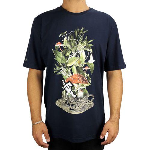 Camiseta-Lost-Basica-Cup-Of-Flowers-Marinho