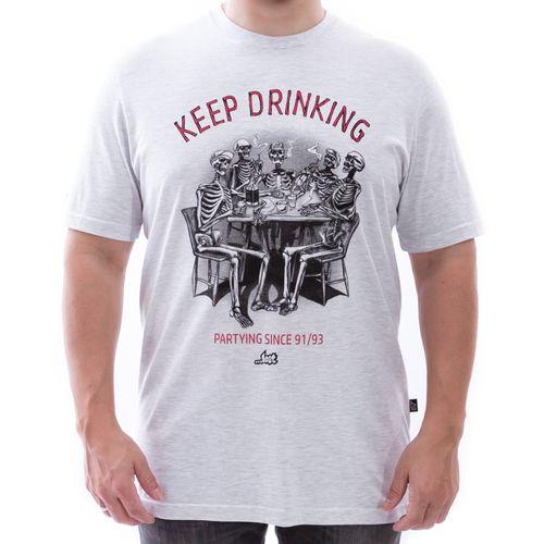 Camiseta-Lost-Keep-Drinking-Mescla-Claro