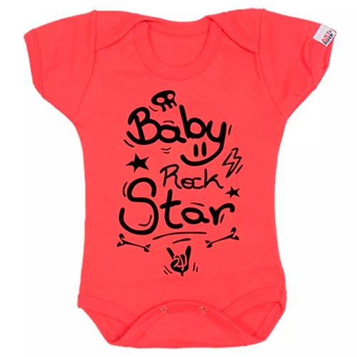 body-infantil-bebe-personalizado-baby-rock-star-vermelho