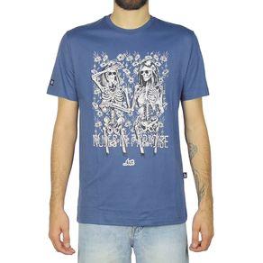 Camiseta-Lost-Nudes-In-Paradise-Azul-Maritimo