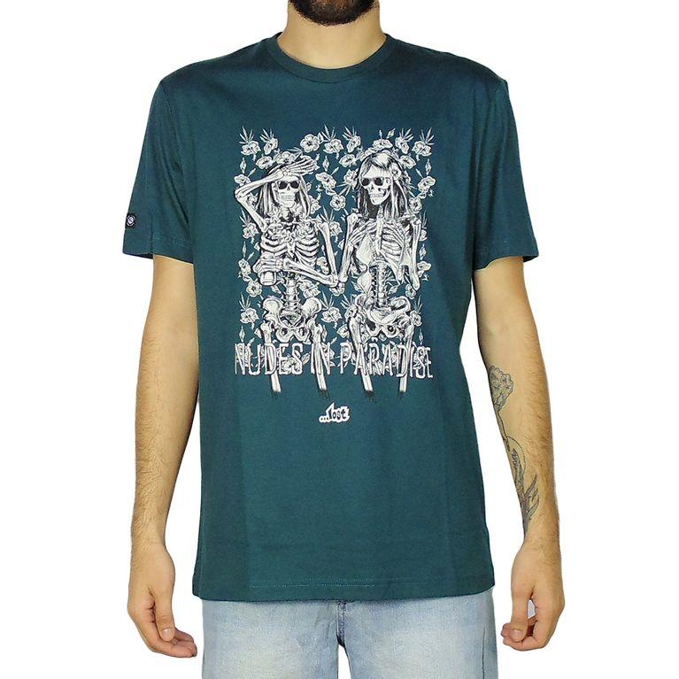 Camiseta Lost Nudes In Paradise Verde Petroleo - galleryrock b0d7b4c21c5