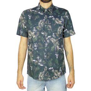 Camisa-Lost-Hawaiian-Skulls-Preto