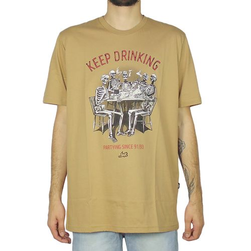 Camiseta-Lost-Keep-Drinking-Capuccino