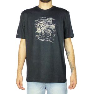 Camiseta-Lost-Fish-Skull-Preto
