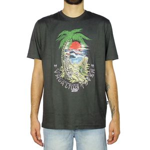 Camiseta-Lost-Skull-Sunset-Off-Black
