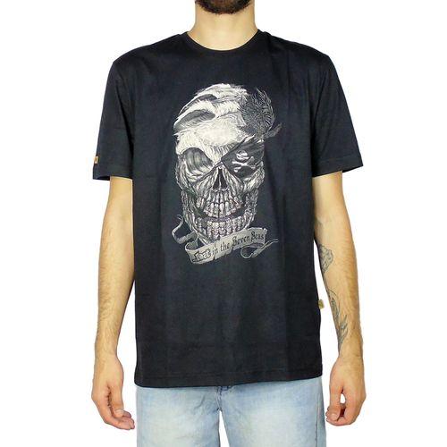 Camiseta-Lost-Basica-Skull-Preto