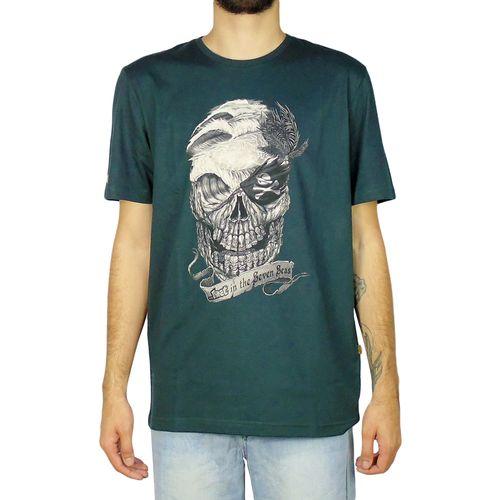 Camiseta-Lost-Basica-Skull-Verde