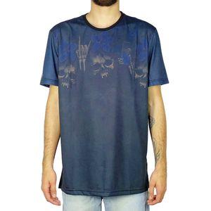 Camiseta-Lost-Skull-Flower-Preto
