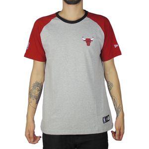 Camiseta-New-Era-Raglan-Mini-Logo-Chicago-Bulls