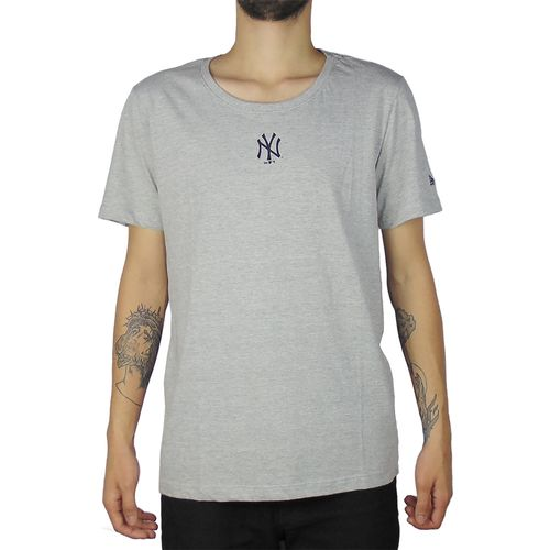 Camiseta-New-Era-Mini-Logo-New-York-Yankees-Cinza