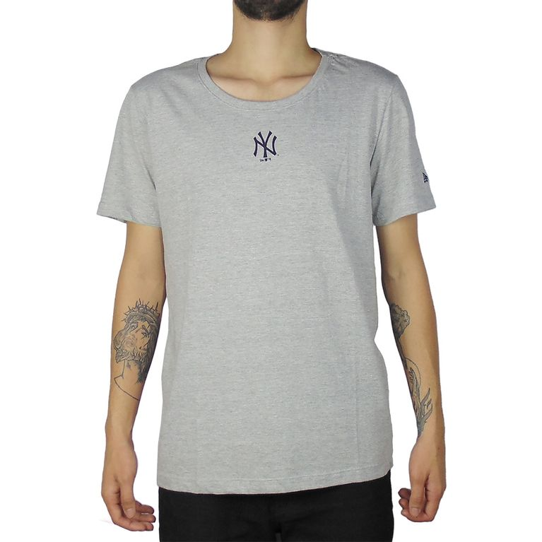 0731f1156a Camiseta New Era Mini Logo New York Yankees Cinza - galleryrock