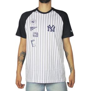 Camiseta-New-Era-25-Team-New-York-Yankees-Branco-Marinho