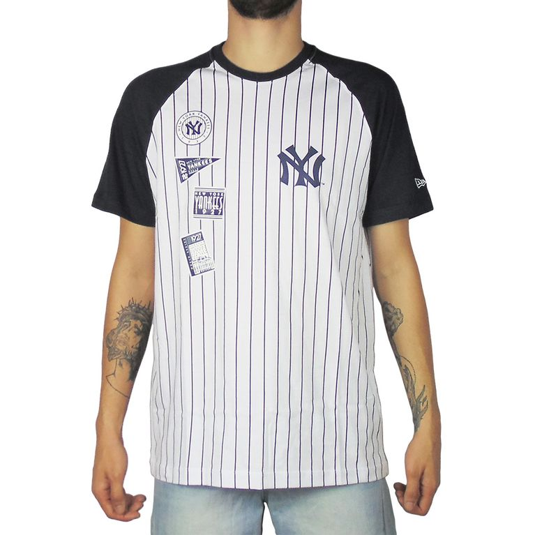 Camiseta New Era 25 Team New York Yankees Branco Marinho - galleryrock 4b4a4cf5af9