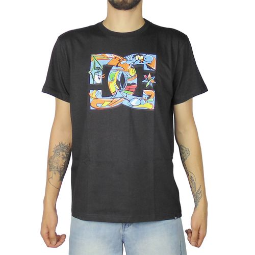 Camiseta-DC-Basica-Mc-All-City-Preta