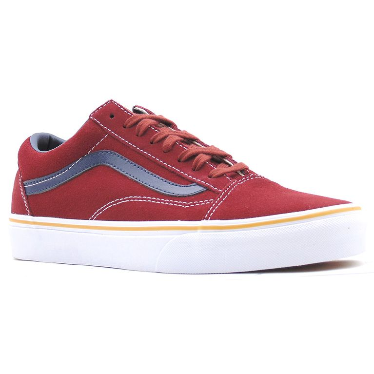 Tênis Vans Old Skool Suede Leather Oxblood Red - Gallery Rock ... 4b0fc28cf