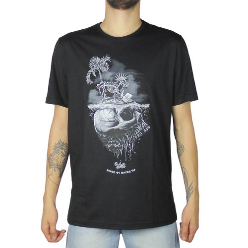 Camiseta-Lost-Sheep-Skull-Preto