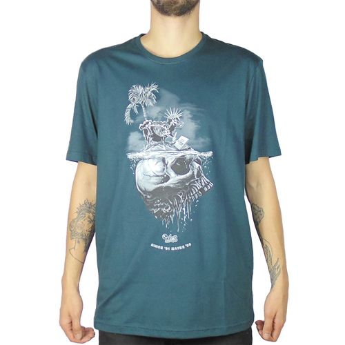 Camiseta-Lost-Sheep-Skull-Verde-Petroleo