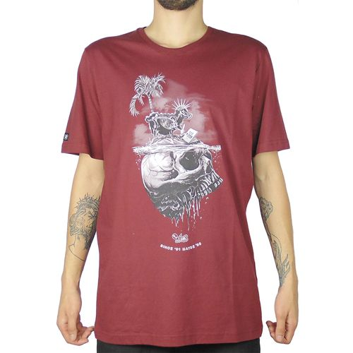 Camiseta-Lost-Sheep-Skull-Bordo