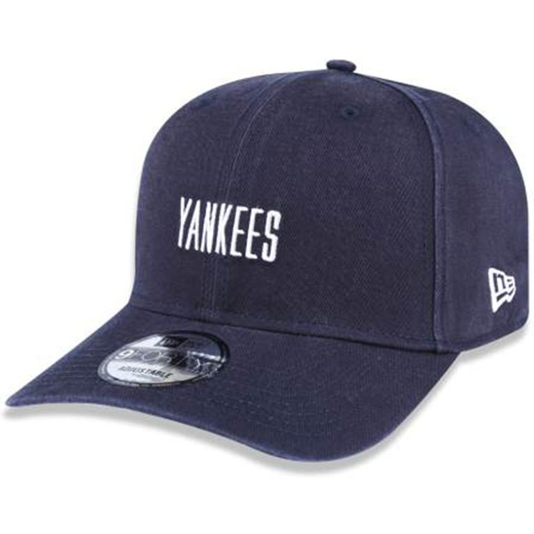 Boné New Era 940 Mini Script New York Yankees Marinho - galleryrock feec07c5e3c