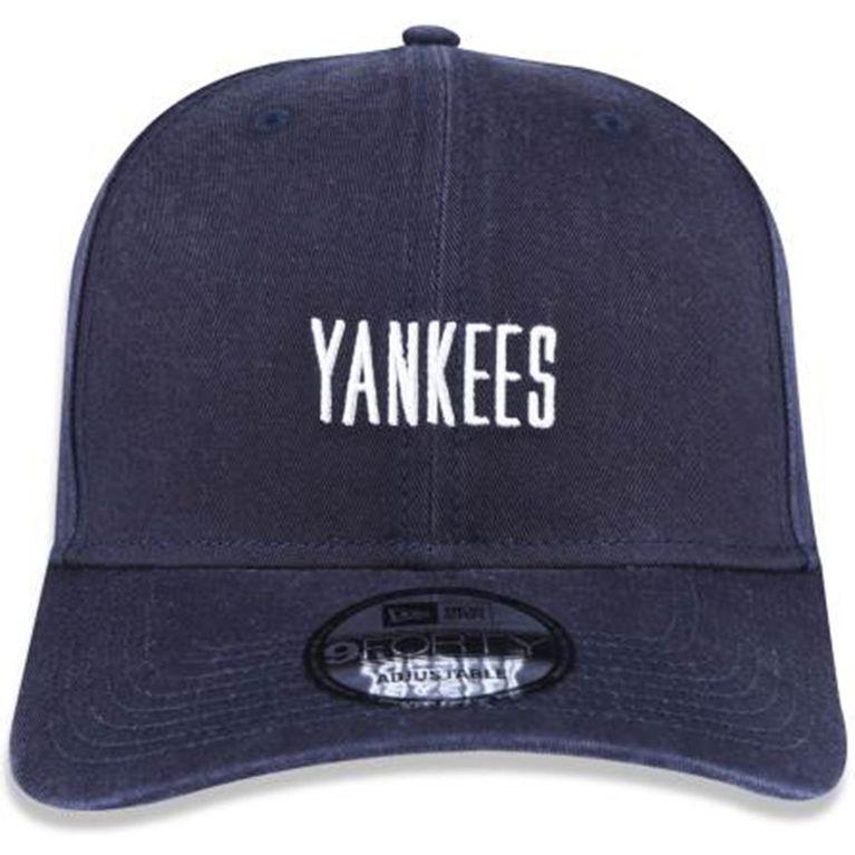 Boné New Era 940 Mini Script New York Yankees Marinho - galleryrock bd7601ab1eb