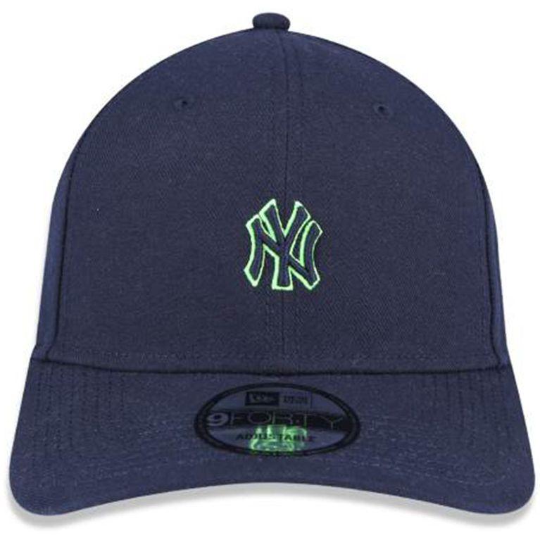 Boné New Era 940 Mini Logo Neon New York Yankees Marinho - galleryrock 61d85ca6469