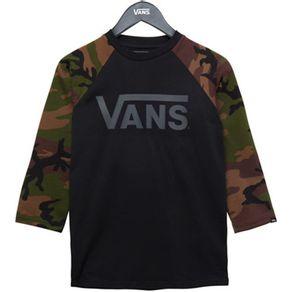 Camiseta-Vans-Raglan-Classic-Black-Camo
