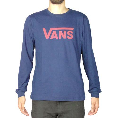 Camiseta-Vans-Manga-Longa-Classic-Azul-Marinho