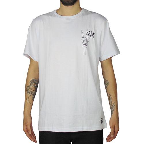 Camiseta-Vans-Skull-Hand-Branca-