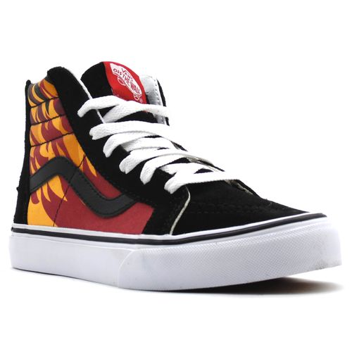 Tenis-Vans-SK8-HI-Zip-Flame-Black-Racing-Red-L100-