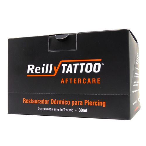 Aftercare-Spray-Cicatrizante-Para-Piercing-Reilly-Tattoo-30ml---Caixa-com-12-Unidades