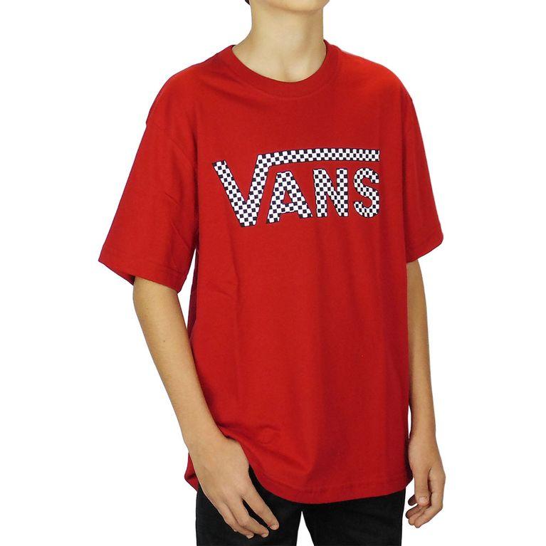 a4b5adba74 Camiseta Vans Classic Fill Quadriculada Vermelha Juvenil - galleryrock