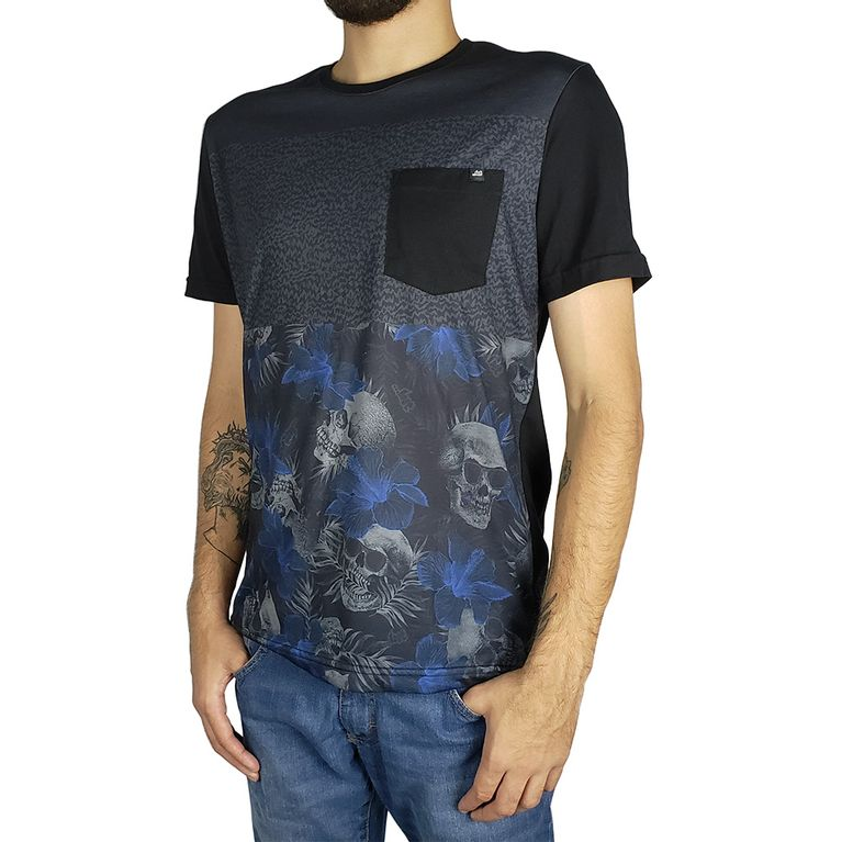 Camiseta Lost Black Hibiscus Marinho - galleryrock d28cac724f4