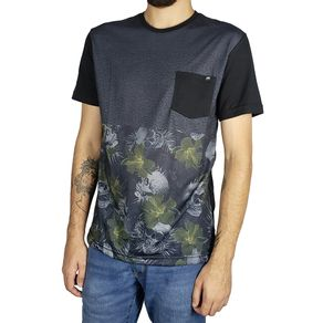 Camiseta-Lost-Black-Hibiscus-Preto-