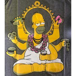 Camiseta-Homer-Simpson-6-Bracos-Cinza-
