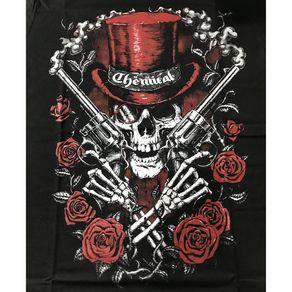 Camiseta-Revolver-Skull-Preta