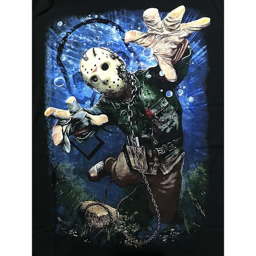 Camiseta-Jason-Acorrentado-Preta