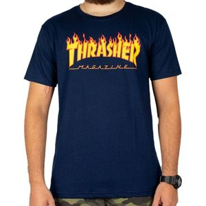 Camiseta-Thrasher-Flame-Logo-Marinho