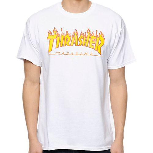 Camiseta-Thrasher-Flame-Logo-Branca