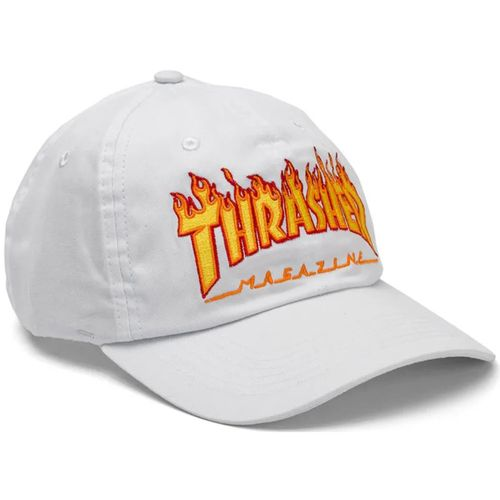Bone-Thrasher-Dad-Hat-Flame-Branco