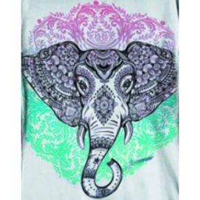 Camiseta-Babylook-Indian-Elephant-Branca