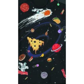Camiseta-Babylook-Space-Food-Preta