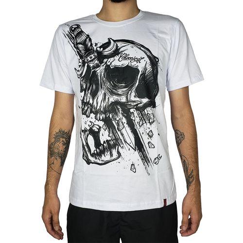 Camiseta-Skull-Dagger-Branca