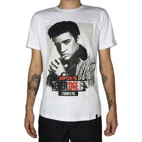 Camiseta-Elvis-Presley-Idols-Never-Die-Branca