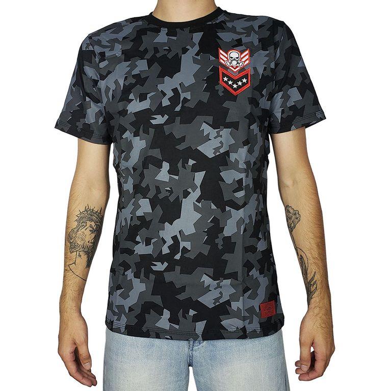 Camiseta Camuflada Preta - galleryrock a1c79263cd6