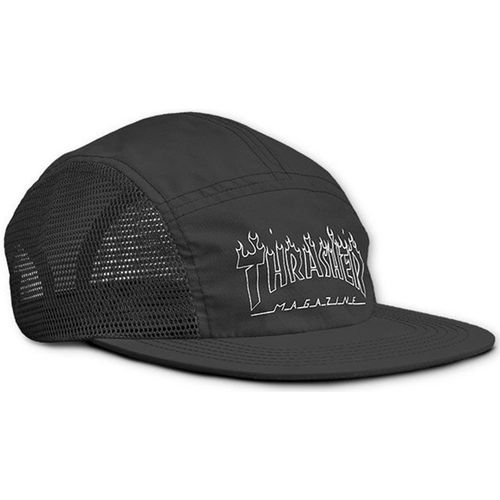 Bone-Thrasher-Flame-Outline-Five-Panel-Preto