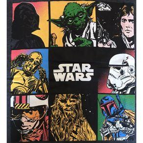 Camiseta-Star-Wars-Personagens-Mescla-Chumbo