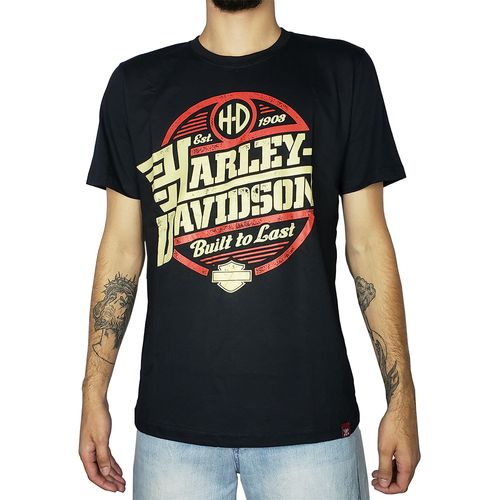 Camiseta-Harley-Davidson-Built-to-Last-Preta