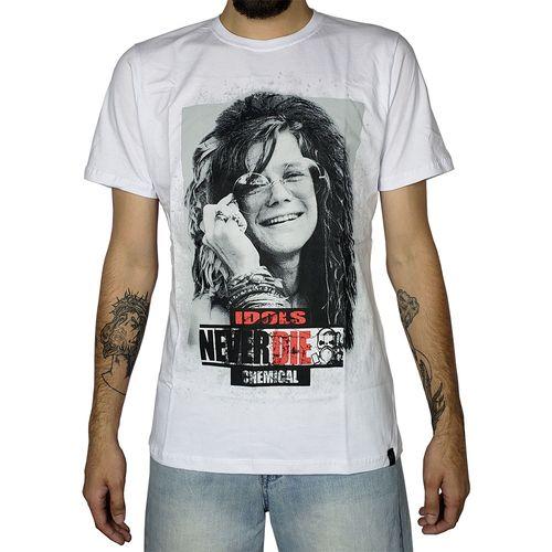 Camiseta-Janis-Joplin-Idols-Never-Die-Branca