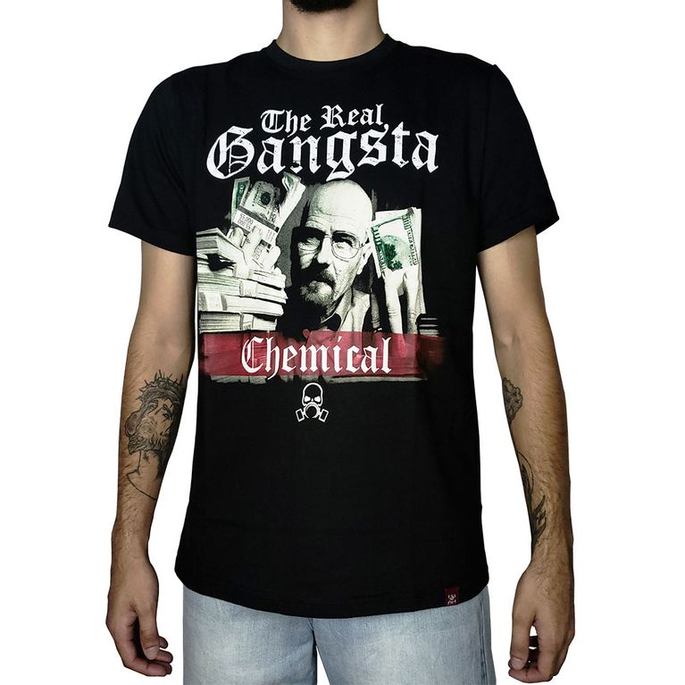 57b34aa49 Camiseta Breaking Bad Heisenberg Preta - galleryrock