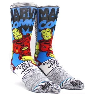 Meia-Stance-Iron-Man-Comic-Grey